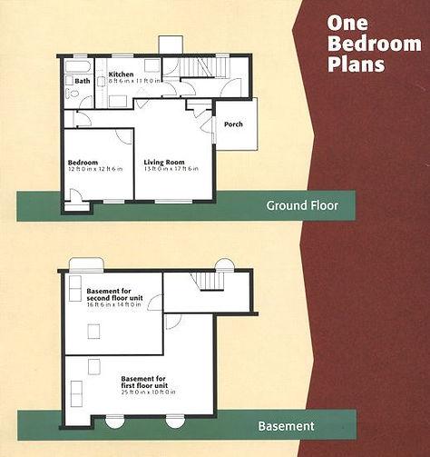 1 bedroom housing coop floorplan