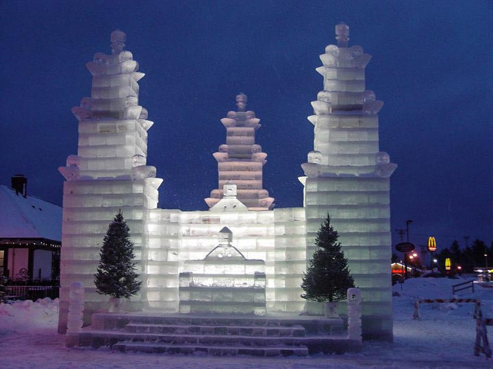 ice castle northwoods wisconsin
