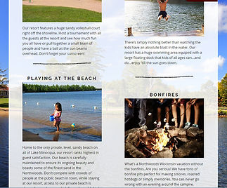homepage design for resort website