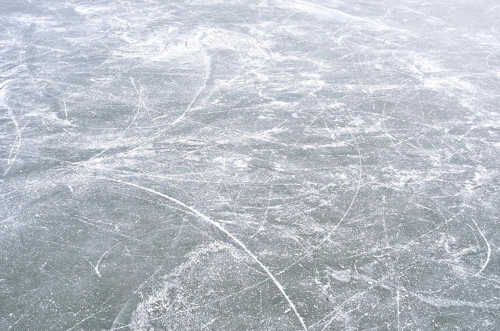 frozen lake in Minocqua WI