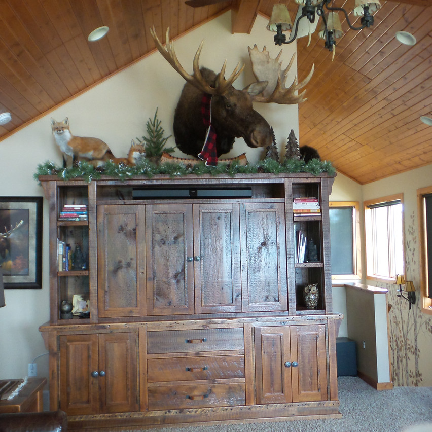living room with moosehead