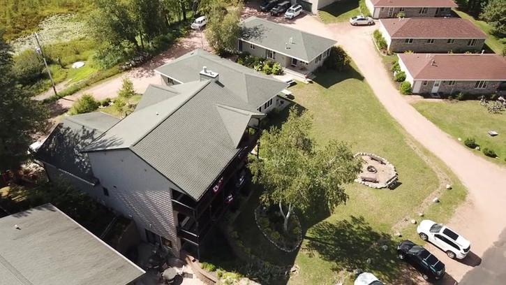 video of birdseye view of resort