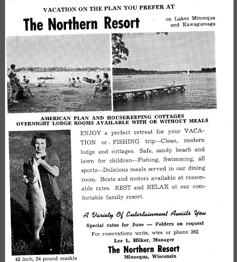 old ad for resort