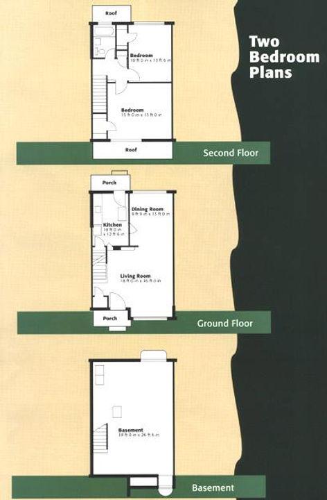 2 bedroom housing cooperative floorplans