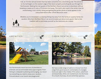 wisconsin resort gets website designed