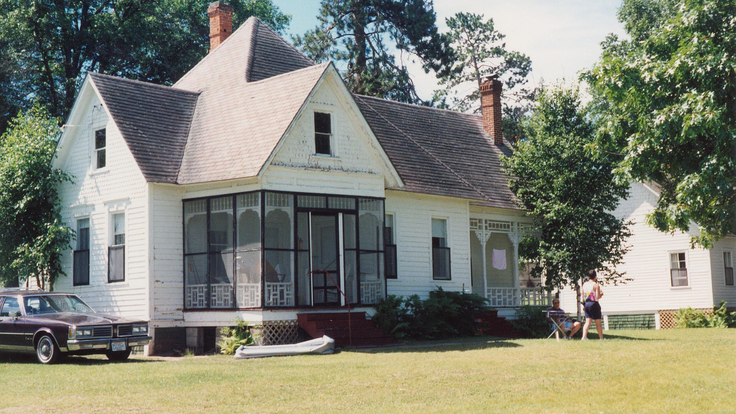 old cabin at resort