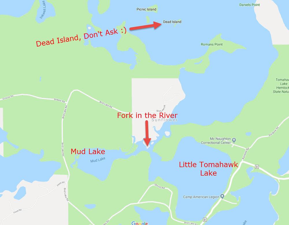 Minocqua area resorts lake maps