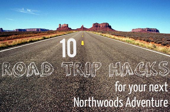 road trip hacks sign