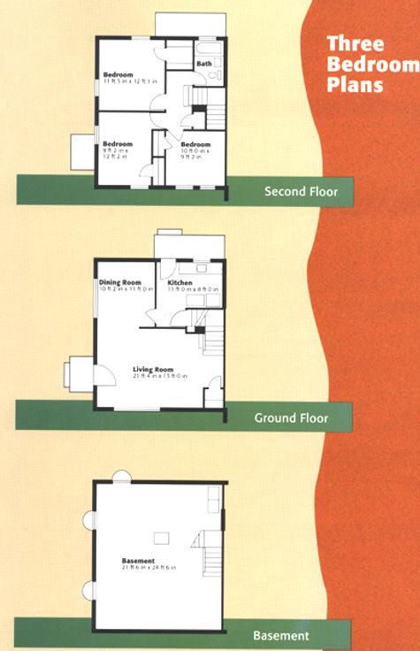 3 bedroom housing coop floorplan