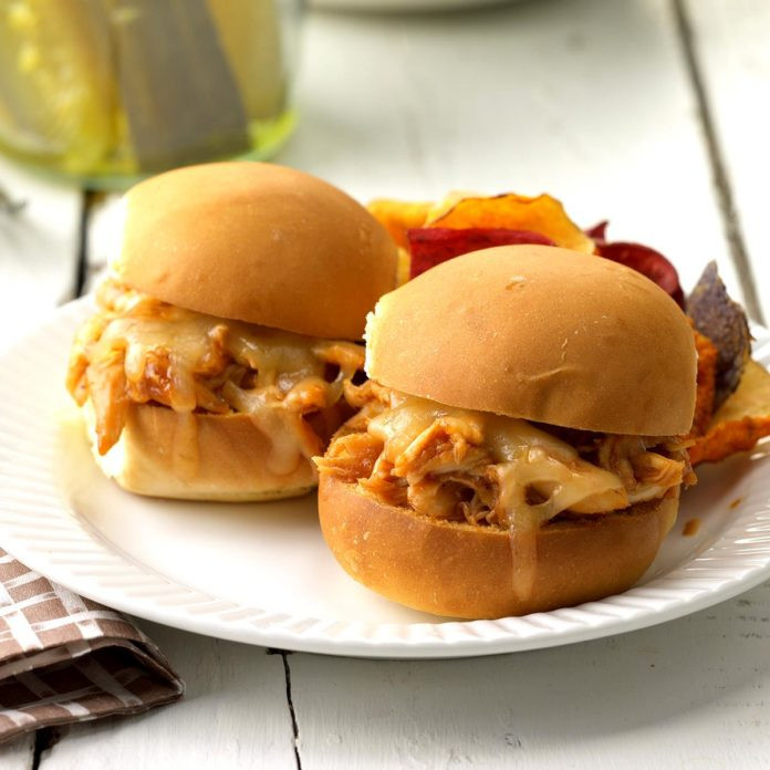 chicken sliders on plate