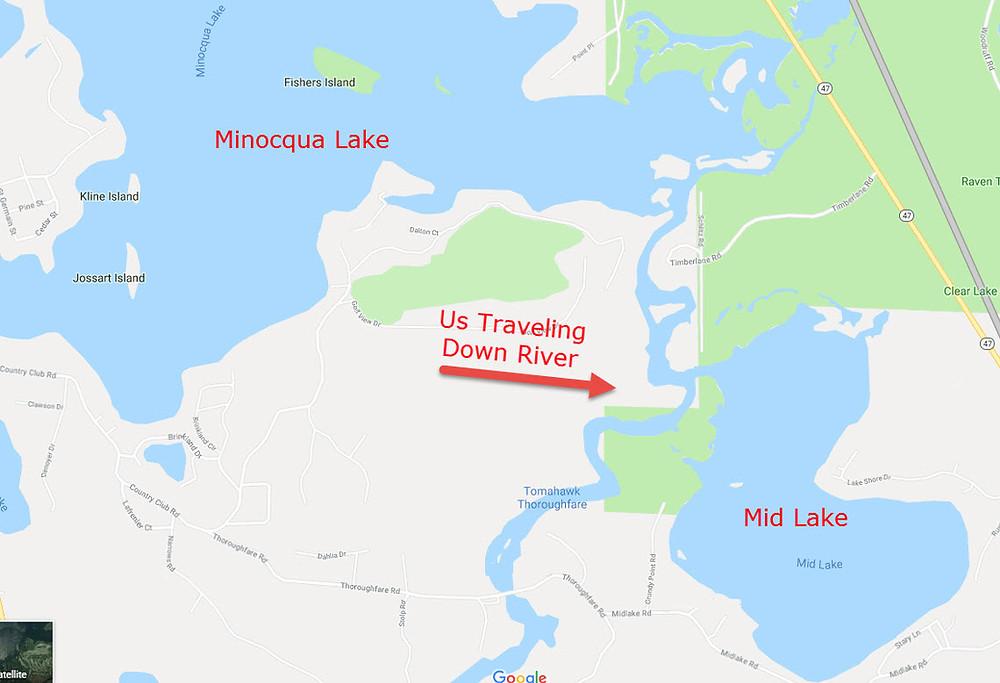 minocqua lake map