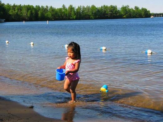 girl at beach at resort