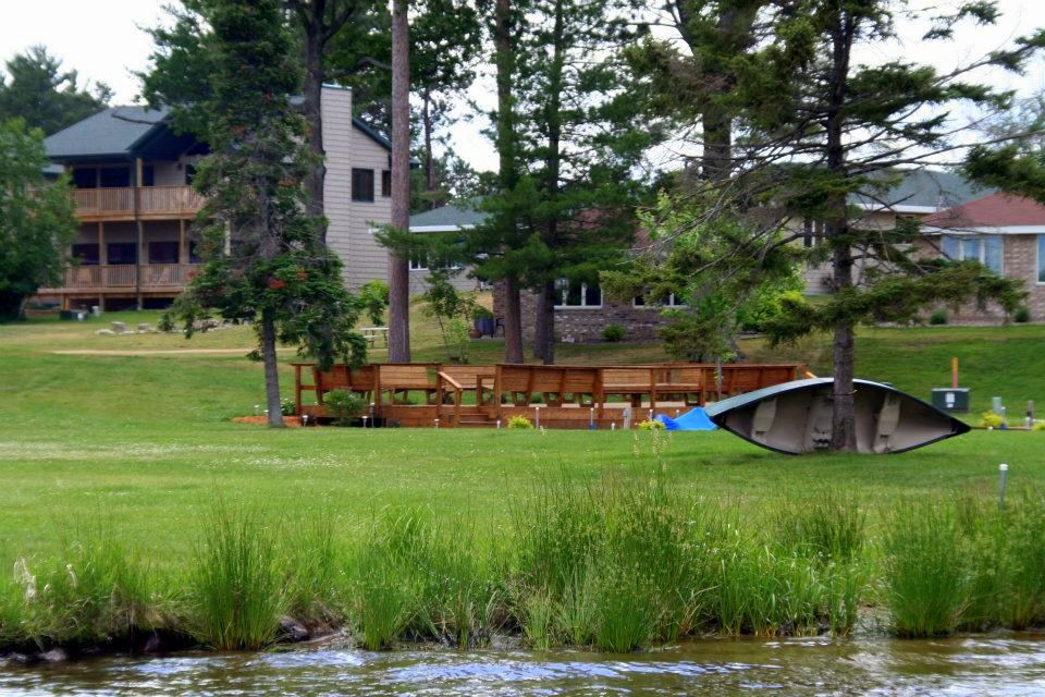 resort view from lake minocqua