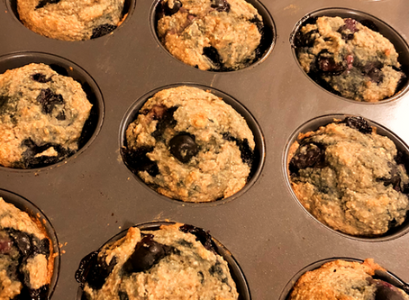 Healthy Flourless Blueberry Banana Oat Muffins