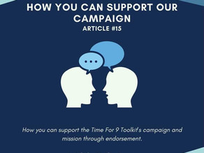 How You Can Support Our Campaign