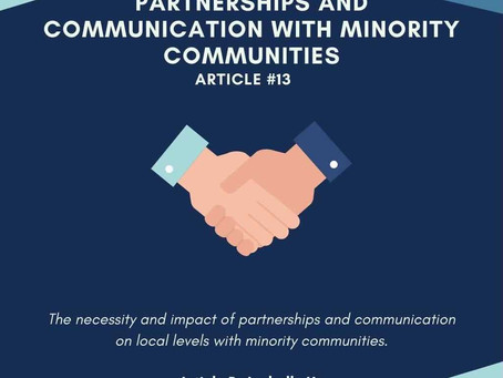 Partnerships and Communications With Minority Communities