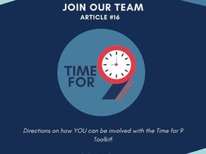 Join the Time for 9 Team!