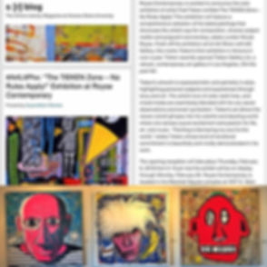 Thank you _superstitionreview for featuring the _fredtieken solo exhibition #TheTiekenZone at Royse
