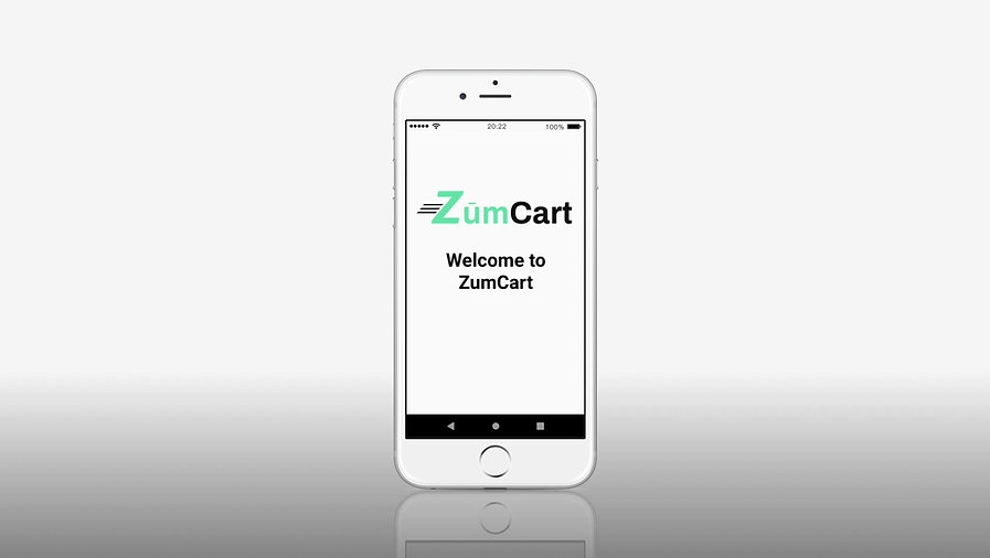 ZumCart Mobile shopping App product demo