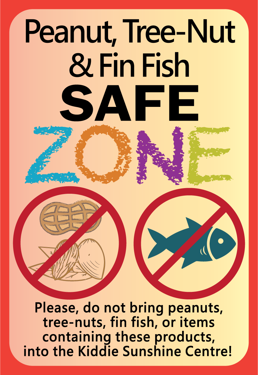 Peanut, TreeNut, Fish Safe Zone