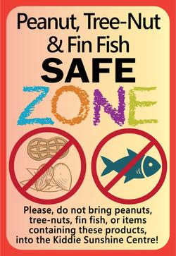 Peanut, TreeNut, Fish Safe Zone