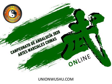 Campeonato de Andalucía Online 2020. Éxito de participación y difusión del Wushu Kung Fu en España.