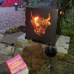 WildFire Garden Logburner - Highland Cow