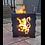 Thumbnail: WildFire Logburner (mild steel) - Lion Rampant