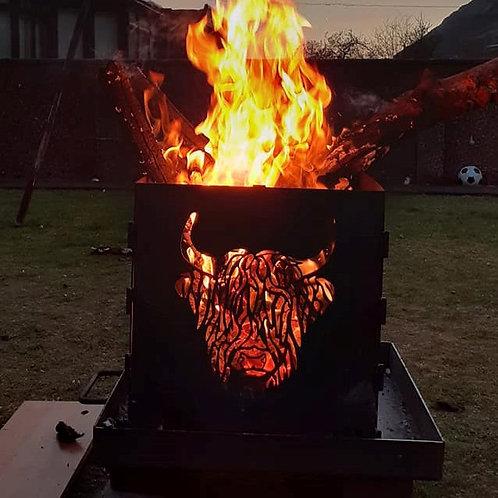 WildFire Logburner (mild steel) - Highland Cow