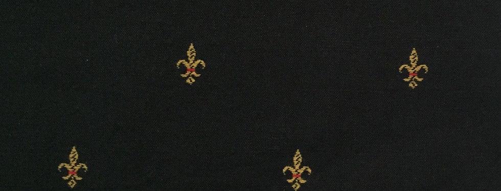 Black and Gold Fleur de lis Fabric
