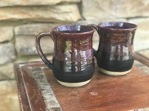 Set of Mugs in Purples