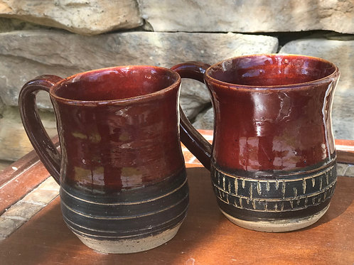 Set of mugs - FireBrick 12 oz
