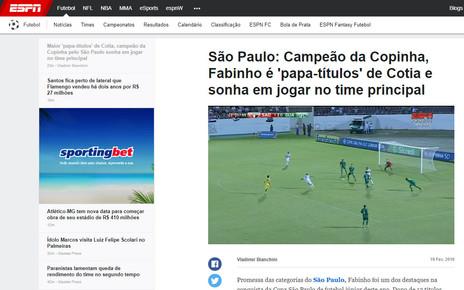 Fabinho: exclusivo ao site oficial da ESPN Brasil