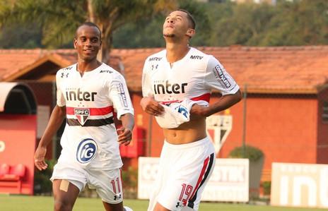 Com 2 gols, Fabinho celebra bom momento e classificação do SP na Copa do Brasil sub-20