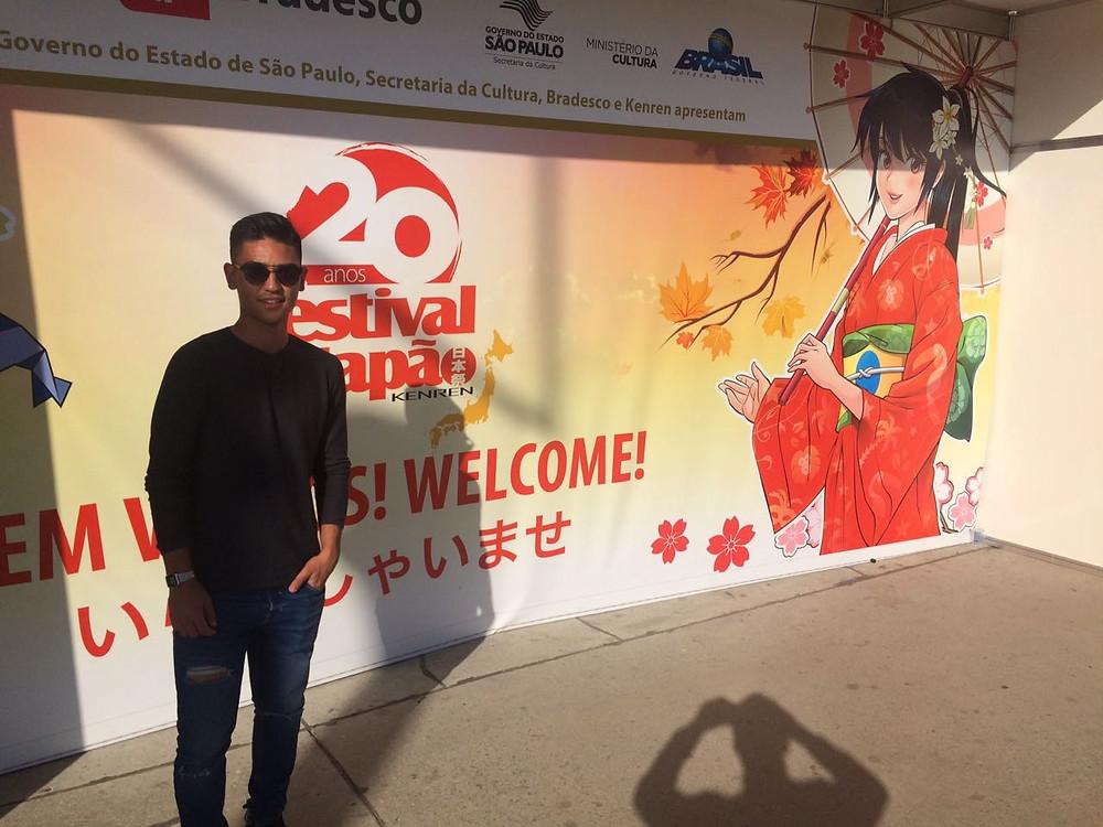 Fabrício Oya durante o Festival do Japão