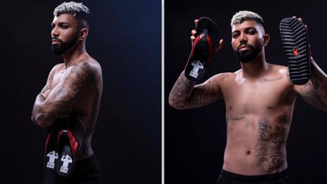 Ídolo carioca, Gabigol lança coleção de chinelos