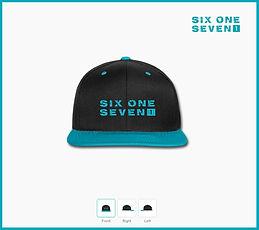 Six One Seven 1 | Baseball Cap - Bright Green On Black