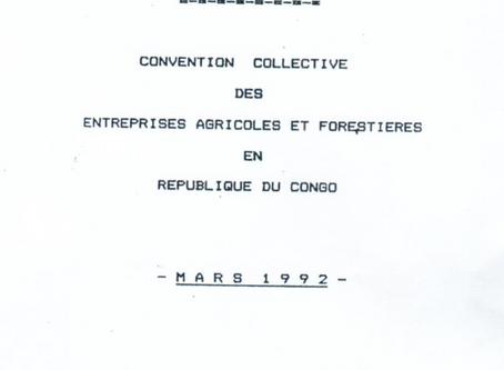Convention collective des entreprises agricoles et forestières en République du Congo