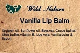 Wild Nature Vanilla Lip Balm