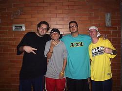 Baffo, Jay P, Lx e Rodrigo em SP