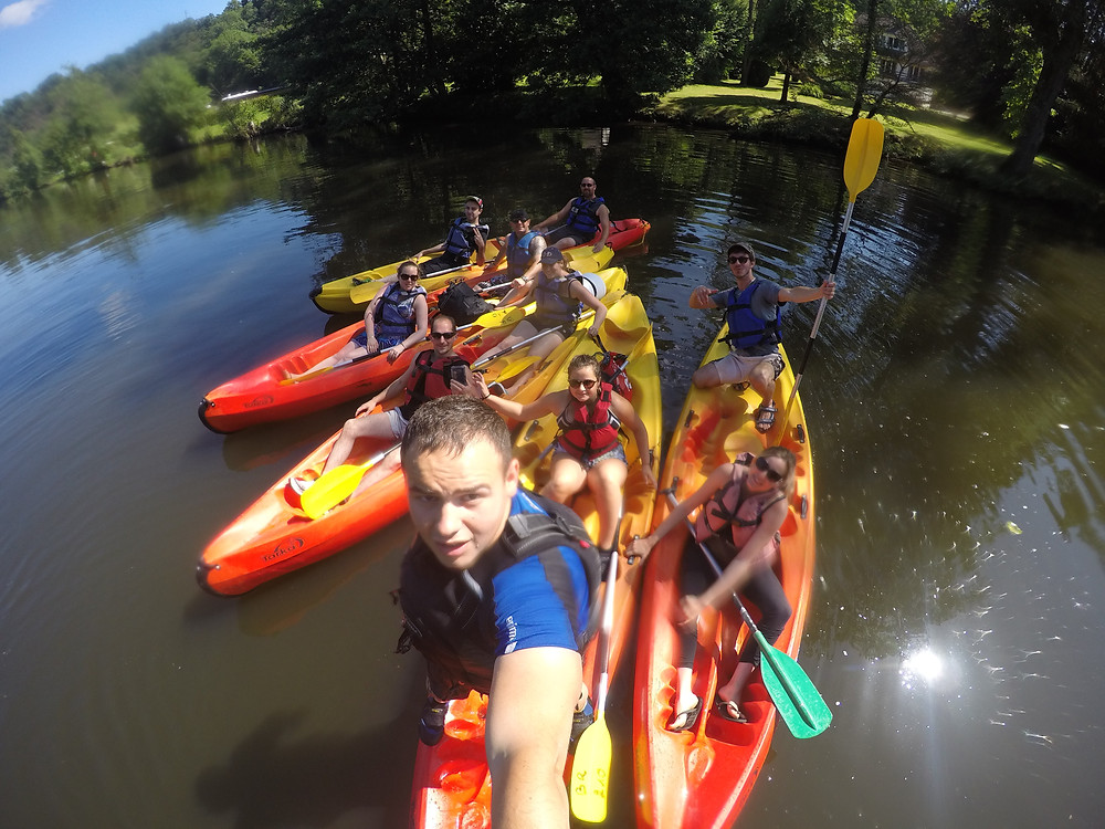 Cohésion kayak à Clécy dans l'Orne pour le M-A Club