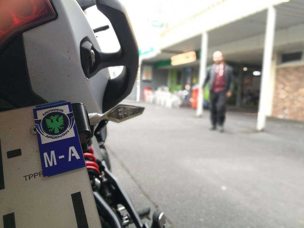 Sticker plaque d'immatriculation moto Motards Argentan