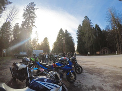 Pause balade moto au séquoia