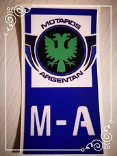 Sticker plaque moto - M-A Club