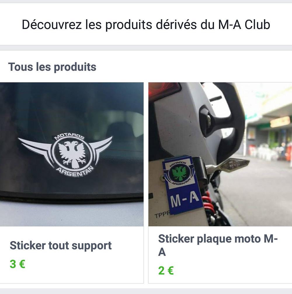 Boutique en ligne M-A Club