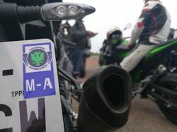 Sticker de plaque M-A