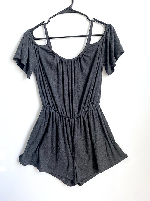 """Cold Shoulders Literally"" Romper"