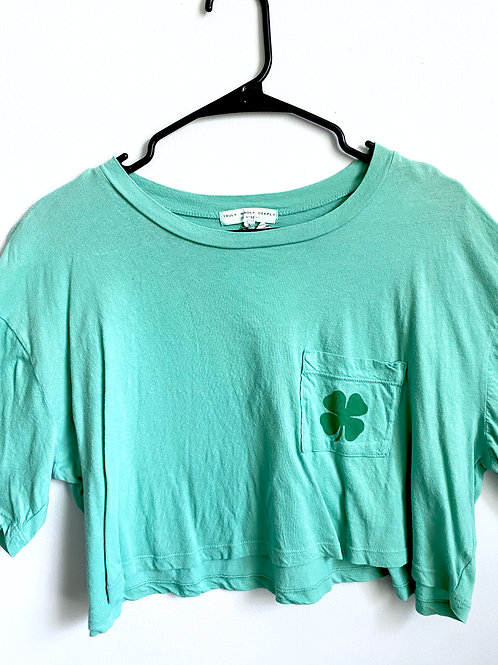 """""""Luck Has Nothing To Do With It"""" Cropped Tee"""