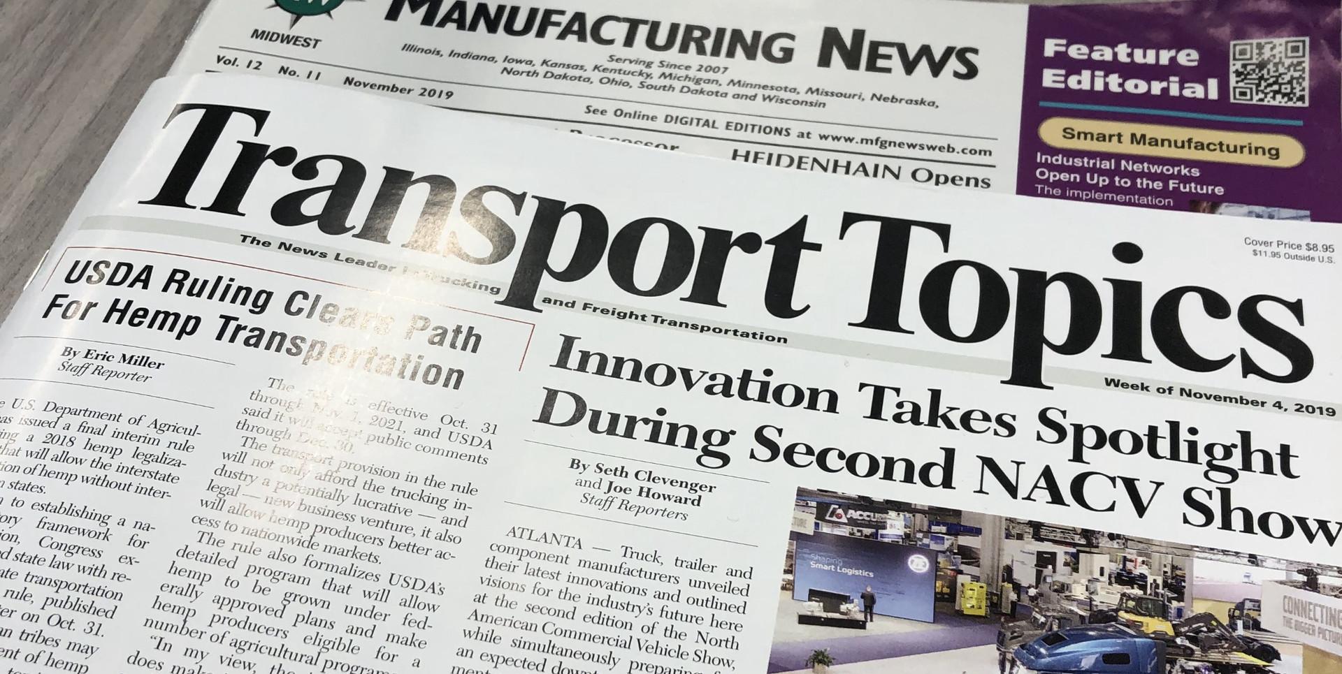 Media Coverage - Tansport Topics - Commercial Trucks