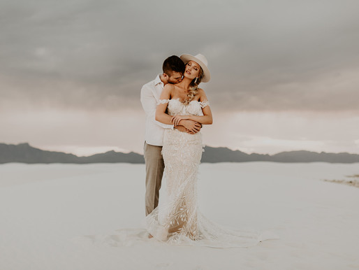 White Sands National Park, Elopement Wedding Photographer